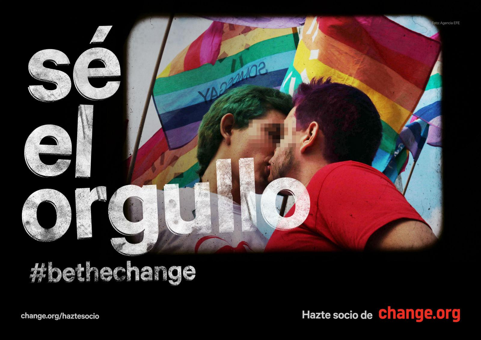 Change.org orgullo gráfica